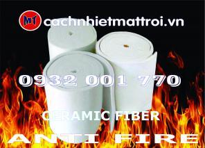 Bông chống cháy cách nhiệt - Ceramic Fieber ( Bông Gốm)