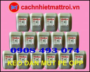 Keo dán tôn cách nhiệt chống nóng - keo dán mút PE OPP ( Foam bạc )