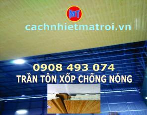 La phông PU 3 lớp chống nóng mái nhà, mái tôn