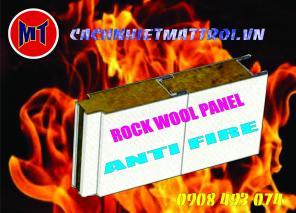 Panel chống cháy, cách nhiệt, cách âm - Rockwool sandwich panel